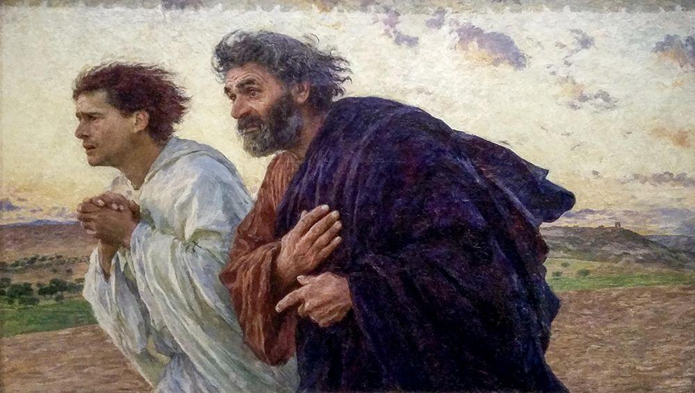 konfigurieren des Kunstdrucks in Wunschgröße Disciples Peter and John Rushing To The Sepulcherthe Morning of The Resurrection von Burnand, Eugene