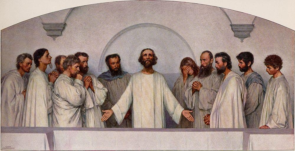 konfigurieren des Kunstdrucks in Wunschgröße The High Priestly Prayer von Burnand, Eugene