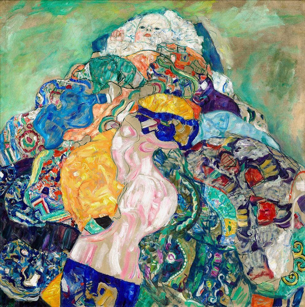 konfigurieren des Kunstdrucks in Wunschgröße Baby Cradle von Klimt, Gustav