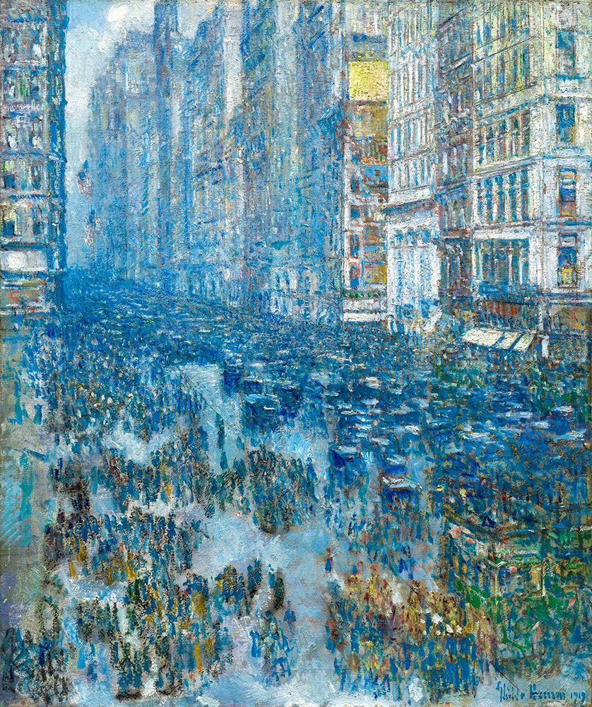 konfigurieren des Kunstdrucks in Wunschgröße Fifth Avenue, 1919 von Hassam, Childe
