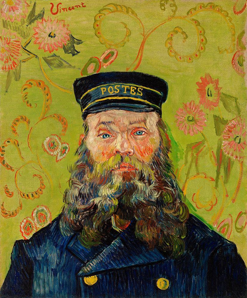 konfigurieren des Kunstdrucks in Wunschgröße The Postman (Joseph Roulin) (1888) von Van Gogh, Vincent