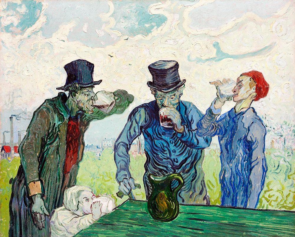 konfigurieren des Kunstdrucks in Wunschgröße The Drinkers (1890) von Van Gogh, Vincent
