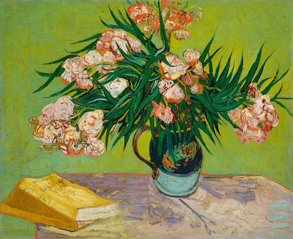 konfigurieren des Kunstdrucks in Wunschgröße Oleanders (1888) von Van Gogh, Vincent