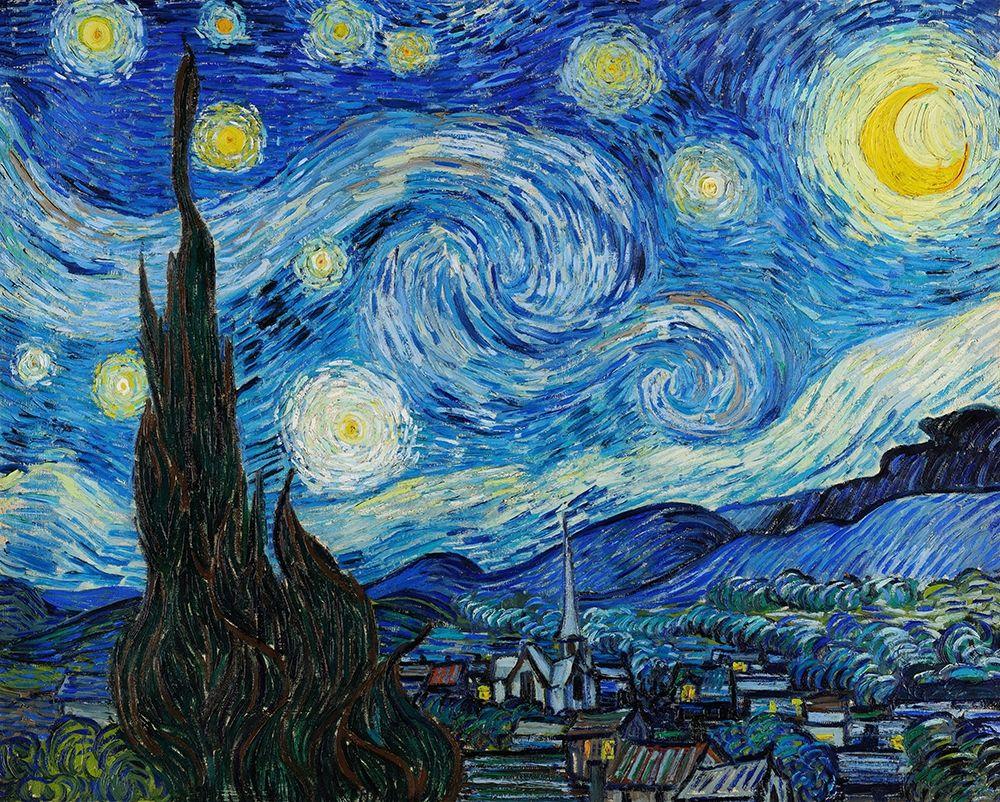 konfigurieren des Kunstdrucks in Wunschgröße The Starry Night (1889) von Van Gogh, Vincent