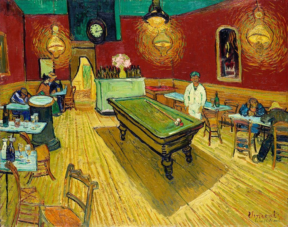 konfigurieren des Kunstdrucks in Wunschgröße Le cafe de nuit (The Night Cafe) (1888) von Van Gogh, Vincent