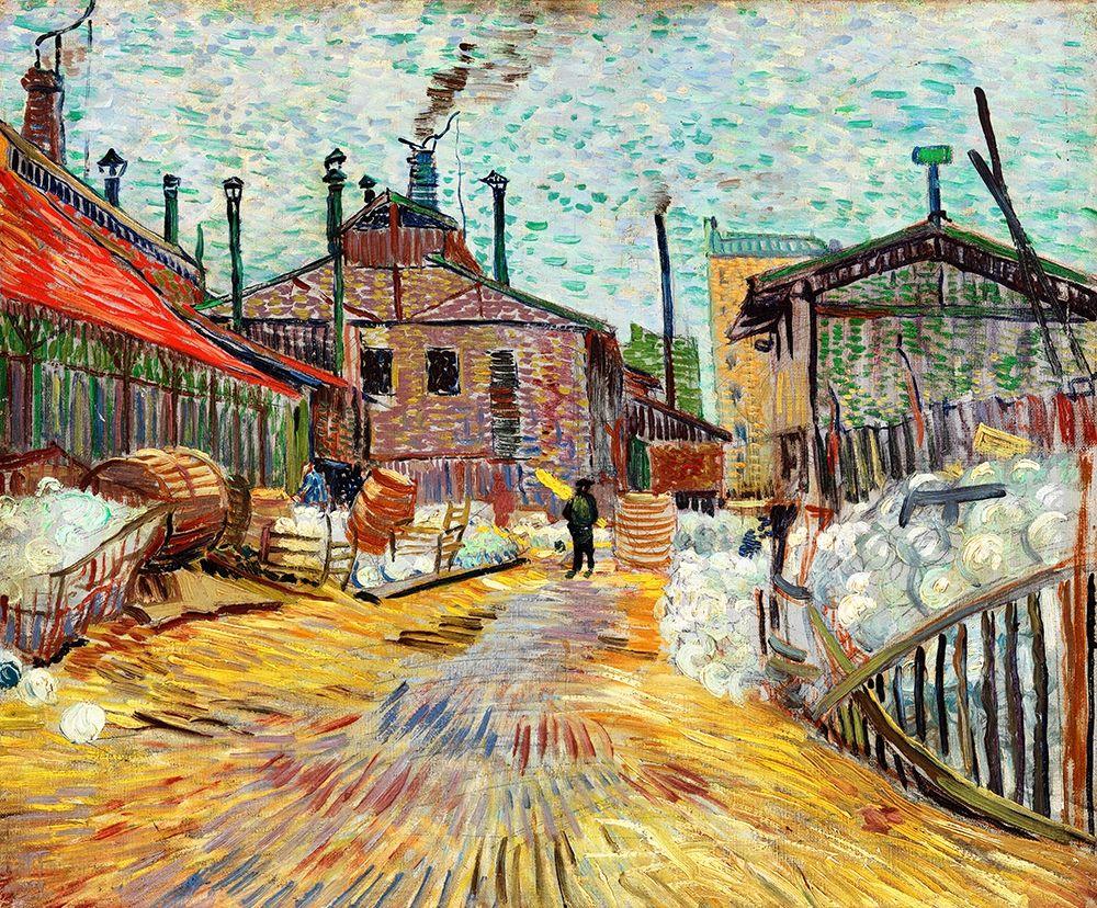 konfigurieren des Kunstdrucks in Wunschgröße The Factory (1887) von Van Gogh, Vincent