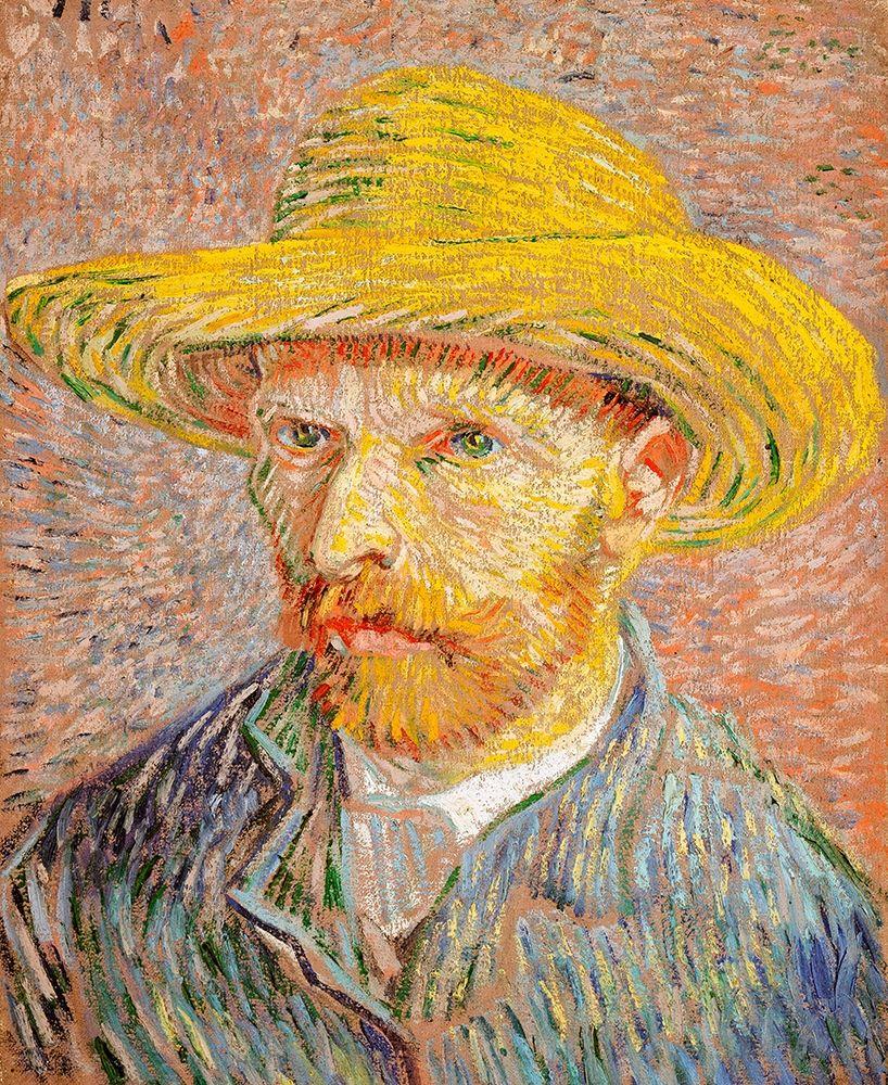 konfigurieren des Kunstdrucks in Wunschgröße Self-Portrait with a Straw Hat (1887)┬á von Van Gogh, Vincent