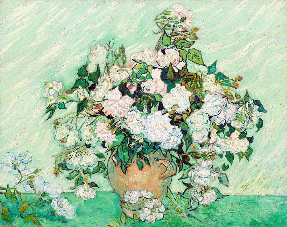 konfigurieren des Kunstdrucks in Wunschgröße Roses (1890) von Van Gogh, Vincent