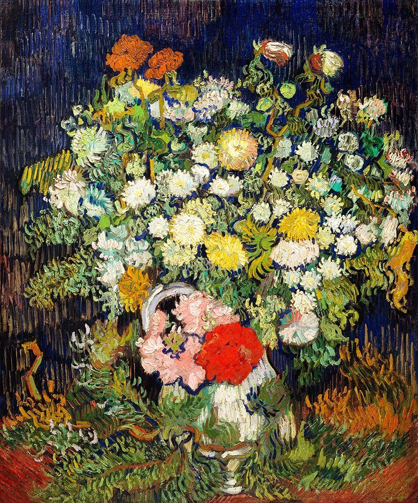 konfigurieren des Kunstdrucks in Wunschgröße Bouquet of Flowers in a Vase (1890)┬á von Van Gogh, Vincent