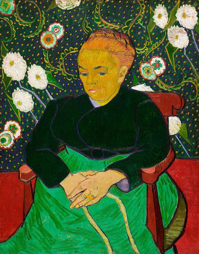 konfigurieren des Kunstdrucks in Wunschgröße The Berceuse, Woman Rocking a Cradle (1889) von Van Gogh, Vincent