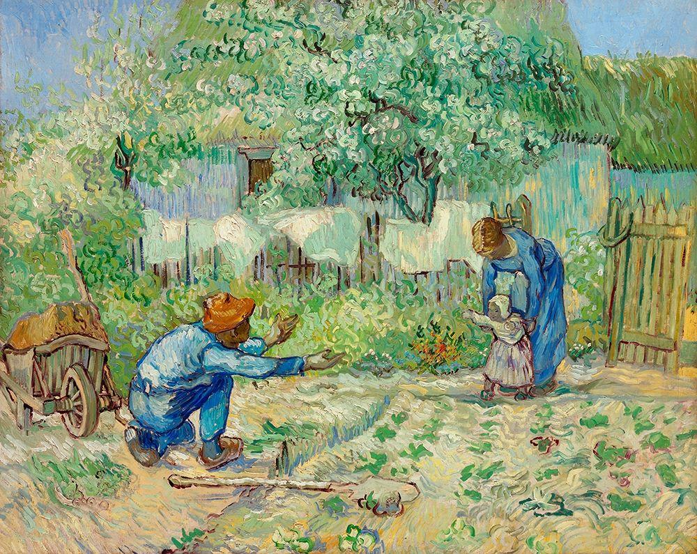 konfigurieren des Kunstdrucks in Wunschgröße First Steps, after Millet (1890) von Van Gogh, Vincent