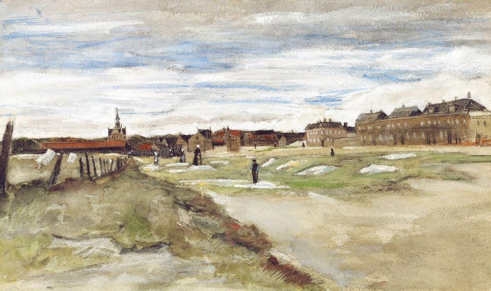 konfigurieren des Kunstdrucks in Wunschgröße Bleaching Ground at Scheveningen (1882) von Van Gogh, Vincent