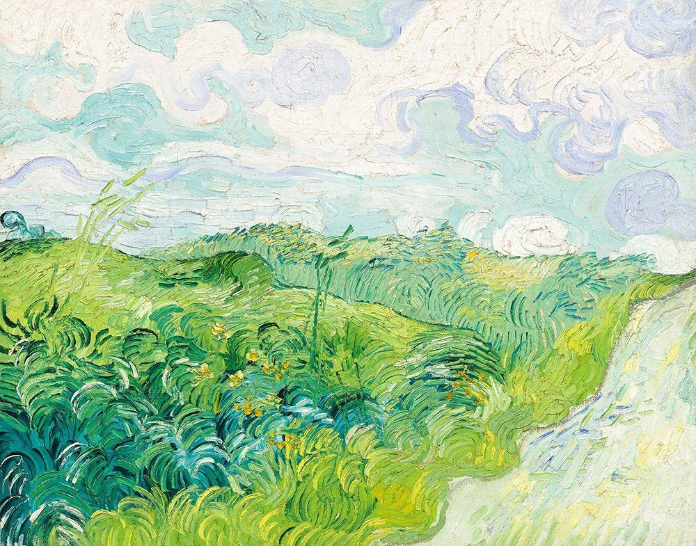 konfigurieren des Kunstdrucks in Wunschgröße Green Wheat Fields, Auvers (1890)┬á von Van Gogh, Vincent
