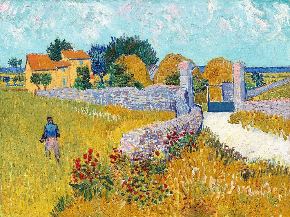 konfigurieren des Kunstdrucks in Wunschgröße Farmhouse in Provence (1888) von Van Gogh, Vincent