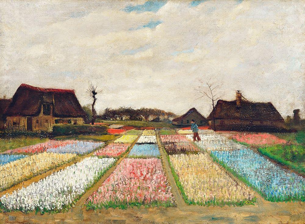 konfigurieren des Kunstdrucks in Wunschgröße Flower Beds in Holland (1883) von Van Gogh, Vincent