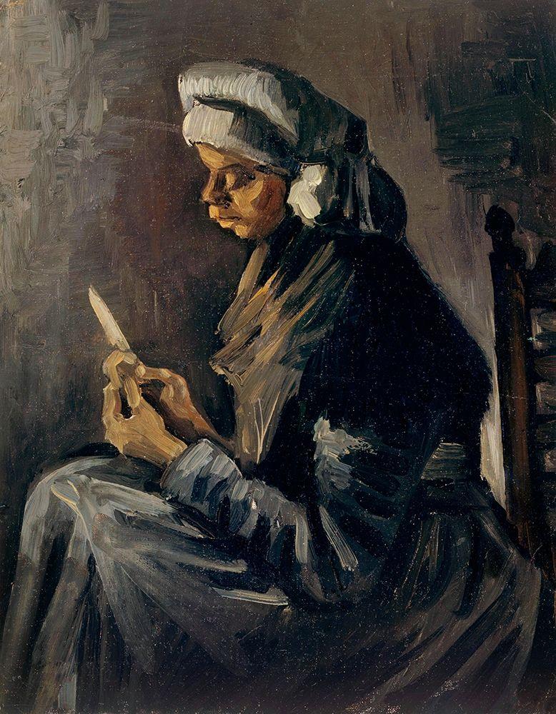 konfigurieren des Kunstdrucks in Wunschgröße The Potato Peeler (1885) von Van Gogh, Vincent