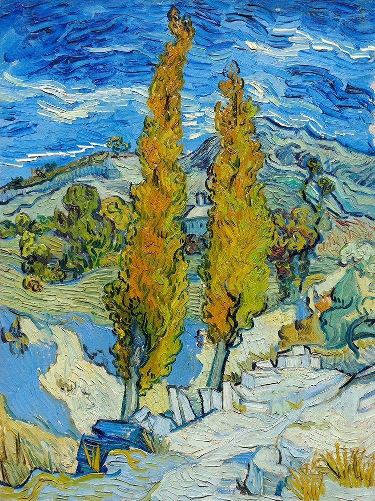 konfigurieren des Kunstdrucks in Wunschgröße The Poplars at Saint-R├®my (1889)┬á von Van Gogh, Vincent