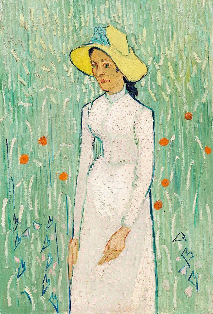 konfigurieren des Kunstdrucks in Wunschgröße Girl in White (1890) von Van Gogh, Vincent