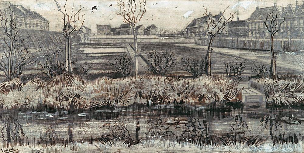konfigurieren des Kunstdrucks in Wunschgröße Nursery on Schenkweg (1882) von Van Gogh, Vincent