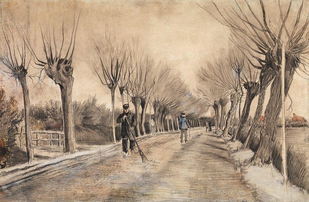 konfigurieren des Kunstdrucks in Wunschgröße Road in Etten (1881) von Van Gogh, Vincent