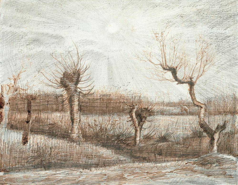 konfigurieren des Kunstdrucks in Wunschgröße Tetards (Pollards) (1884) von Van Gogh, Vincent