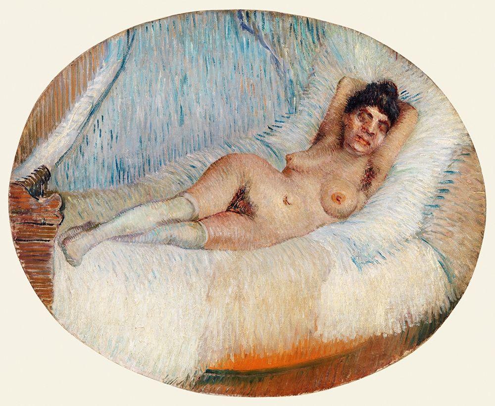 konfigurieren des Kunstdrucks in Wunschgröße Reclining Nude (Femme nue ├®tendue sur un lit) (1887) von Van Gogh, Vincent