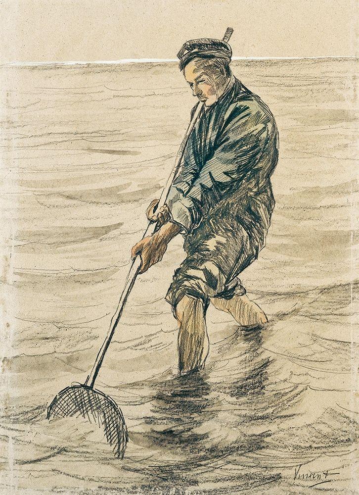 konfigurieren des Kunstdrucks in Wunschgröße The Shell Fisherman (Schelpenvisser, 1863-1890) von Van Gogh, Vincent
