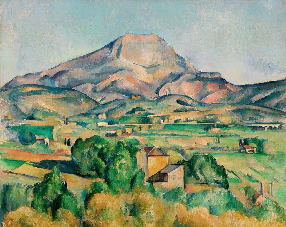konfigurieren des Kunstdrucks in Wunschgröße Mont Sainte-Victoire (La Montagne Sainte-Victoire) von Cezanne, Paul