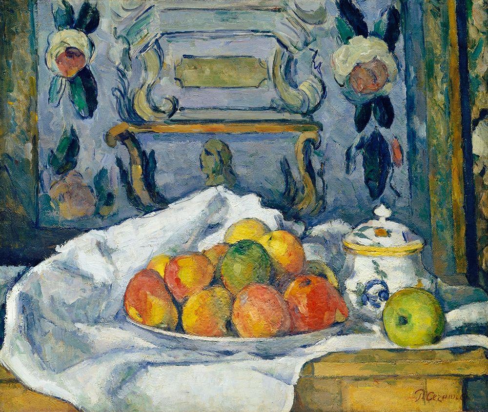konfigurieren des Kunstdrucks in Wunschgröße Dish of Apples von Cezanne, Paul