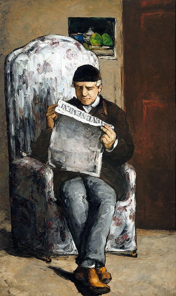 konfigurieren des Kunstdrucks in Wunschgröße The Artists Father, Reading┬á von Cezanne, Paul