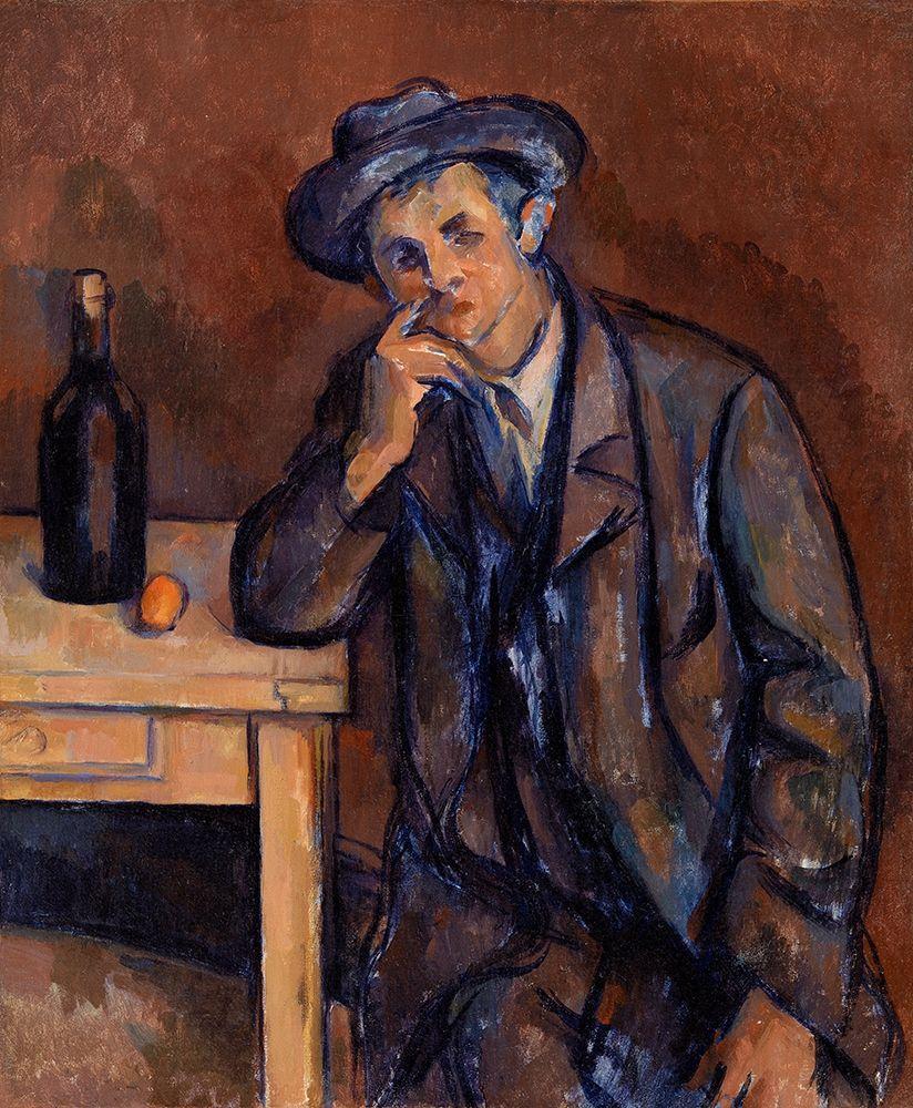 konfigurieren des Kunstdrucks in Wunschgröße The Drinker von Cezanne, Paul