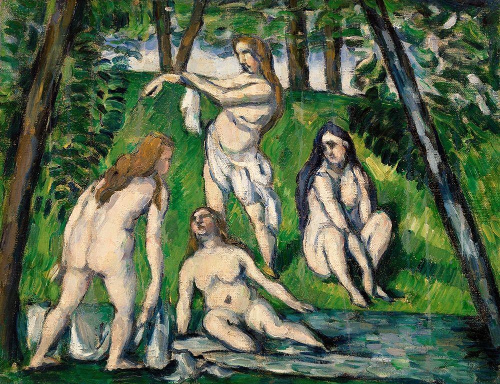 konfigurieren des Kunstdrucks in Wunschgröße Four Bathers von Cezanne, Paul