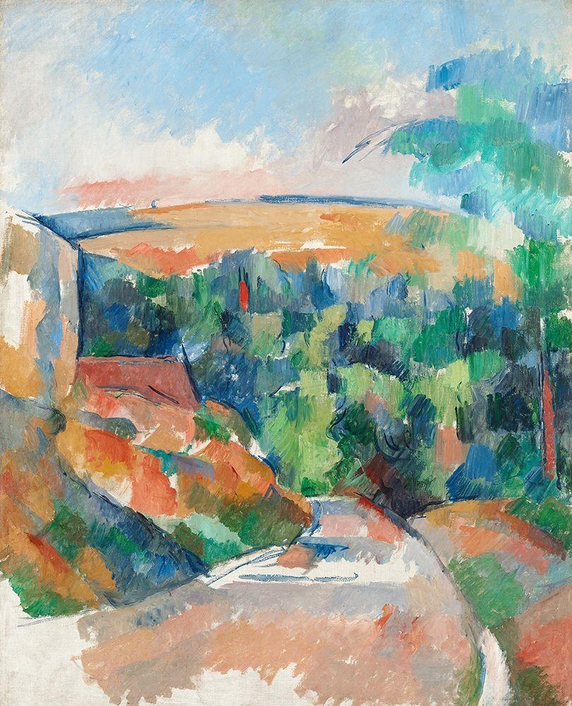konfigurieren des Kunstdrucks in Wunschgröße The Bend in the Road von Cezanne, Paul