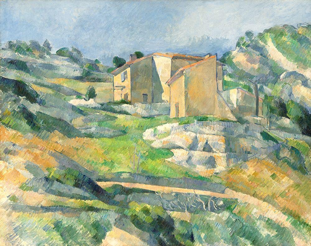 konfigurieren des Kunstdrucks in Wunschgröße Houses in Provence: The Riaux Valley near LEstaque von Cezanne, Paul