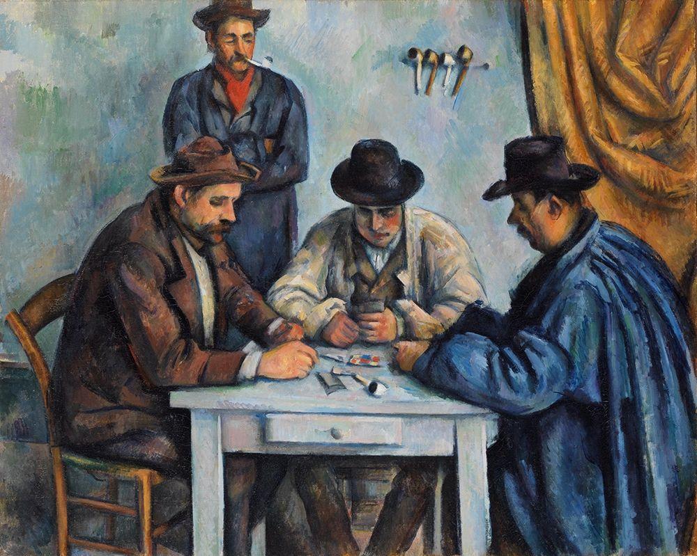 konfigurieren des Kunstdrucks in Wunschgröße The Card Players von Cezanne, Paul