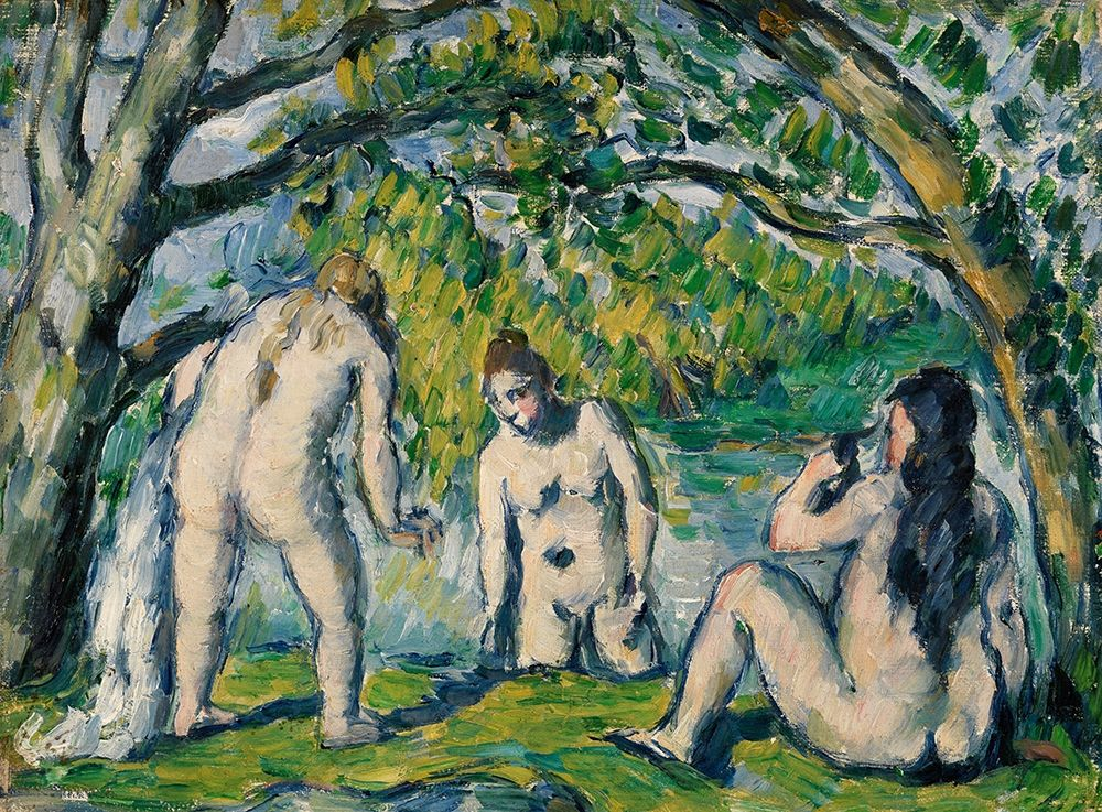konfigurieren des Kunstdrucks in Wunschgröße Three Bathers von Cezanne, Paul