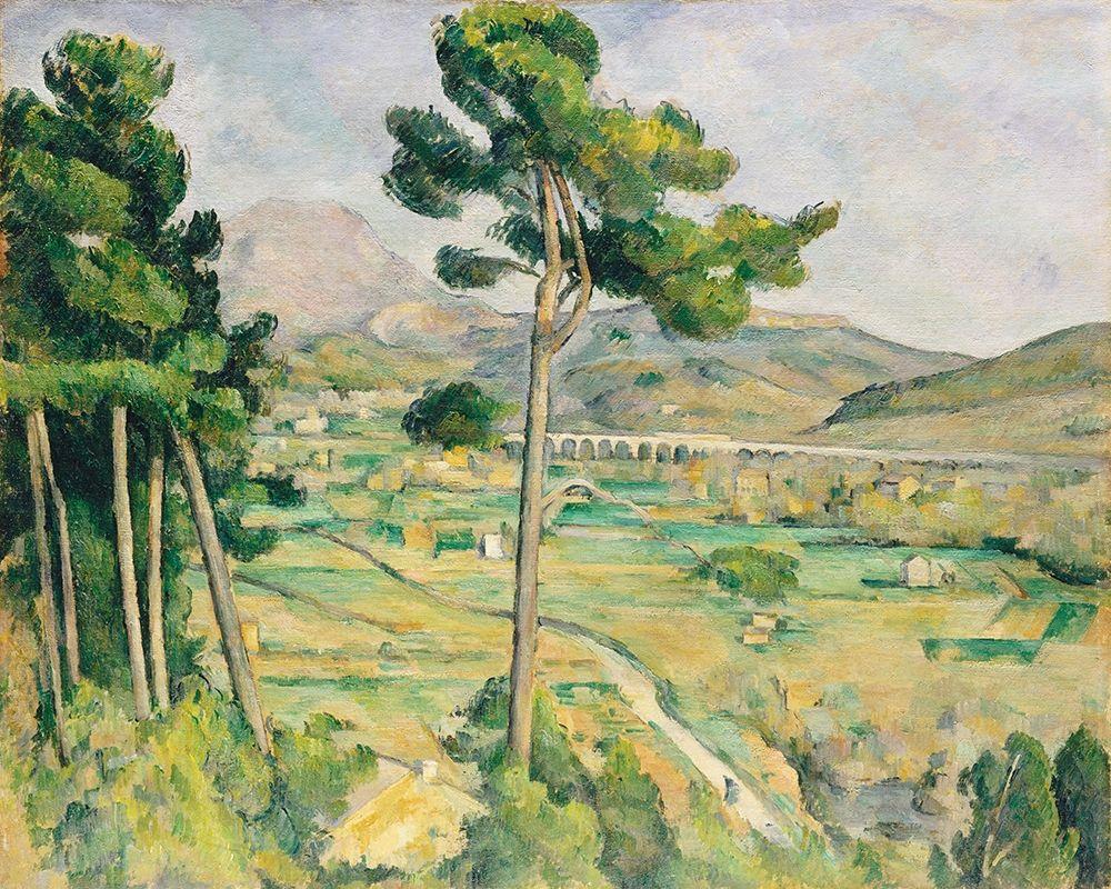konfigurieren des Kunstdrucks in Wunschgröße Mont Sainte-Victoire and the Viaduct of the Arc River Valley von Cezanne, Paul