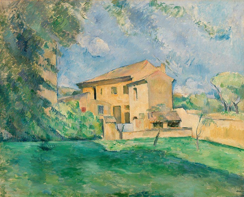 konfigurieren des Kunstdrucks in Wunschgröße The Farm at the Jas de Bouffan von Cezanne, Paul