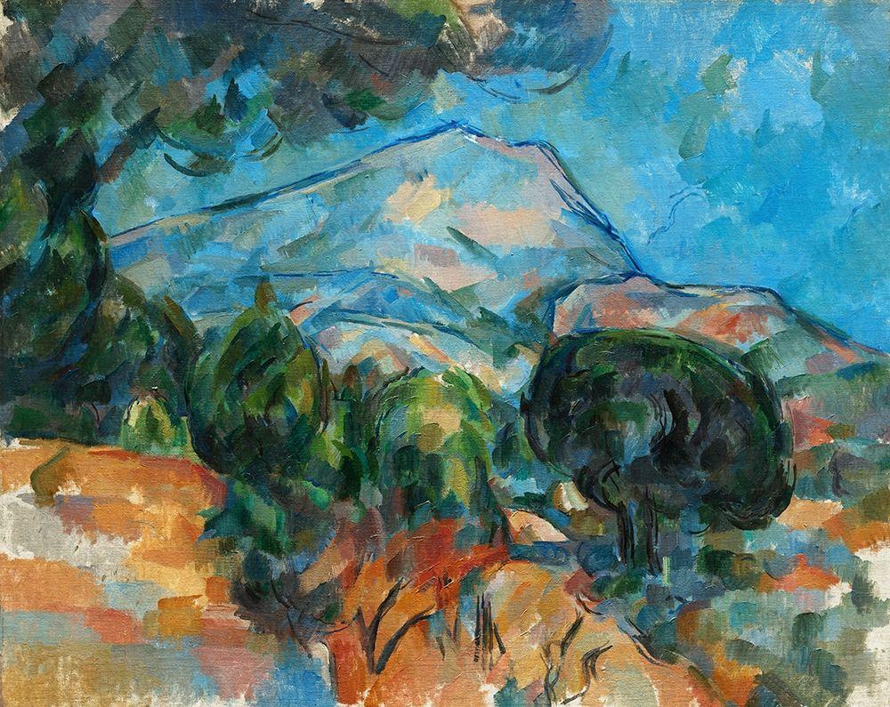 konfigurieren des Kunstdrucks in Wunschgröße Mount Sainte-Victoire von Cezanne, Paul
