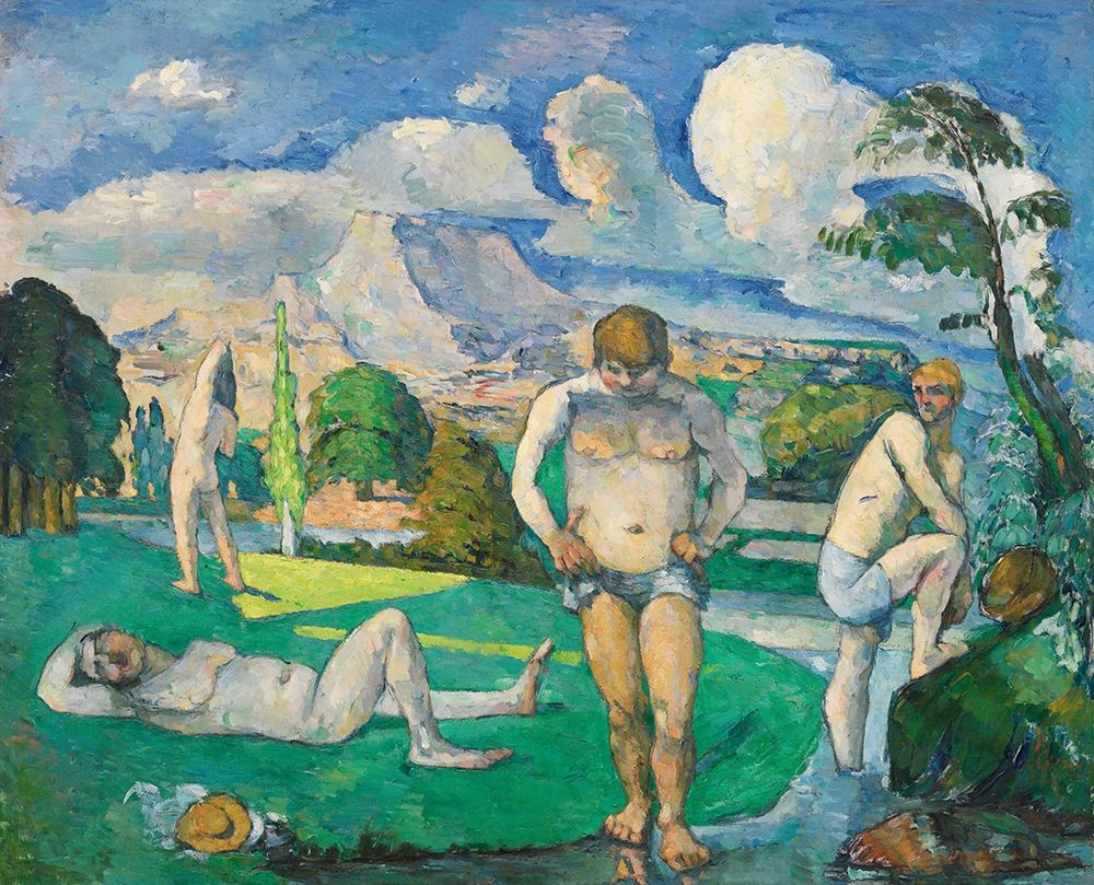 konfigurieren des Kunstdrucks in Wunschgröße Bathers at Rest von Cezanne, Paul