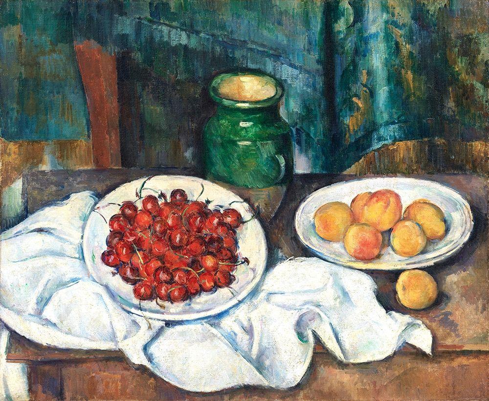 konfigurieren des Kunstdrucks in Wunschgröße Still Life With Cherries And Peaches┬á von Cezanne, Paul