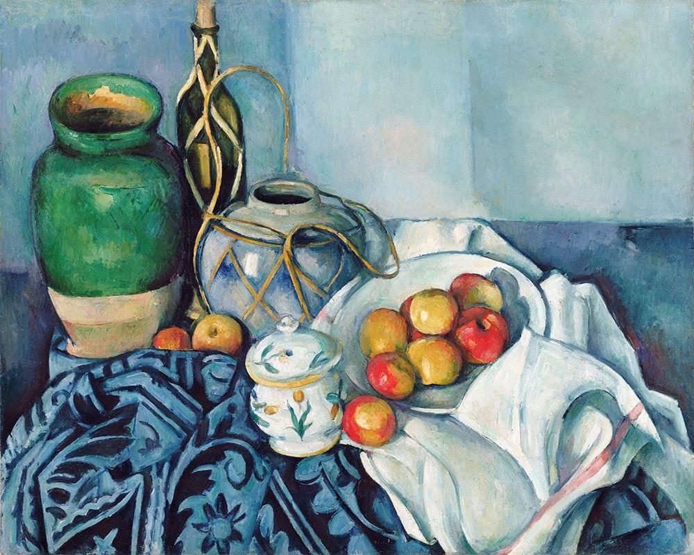 konfigurieren des Kunstdrucks in Wunschgröße Still Life with Apples von Cezanne, Paul