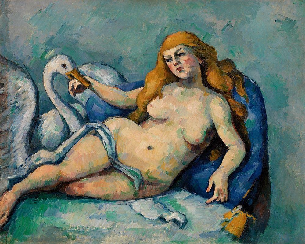 konfigurieren des Kunstdrucks in Wunschgröße Leda and the Swan von Cezanne, Paul