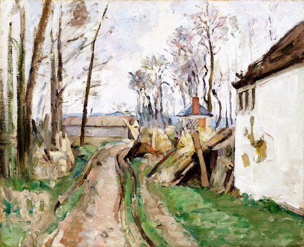 konfigurieren des Kunstdrucks in Wunschgröße A Village Road near Auvers von Cezanne, Paul