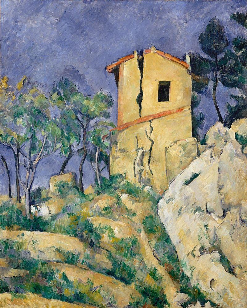 konfigurieren des Kunstdrucks in Wunschgröße The House with the Cracked Walls┬á von Cezanne, Paul