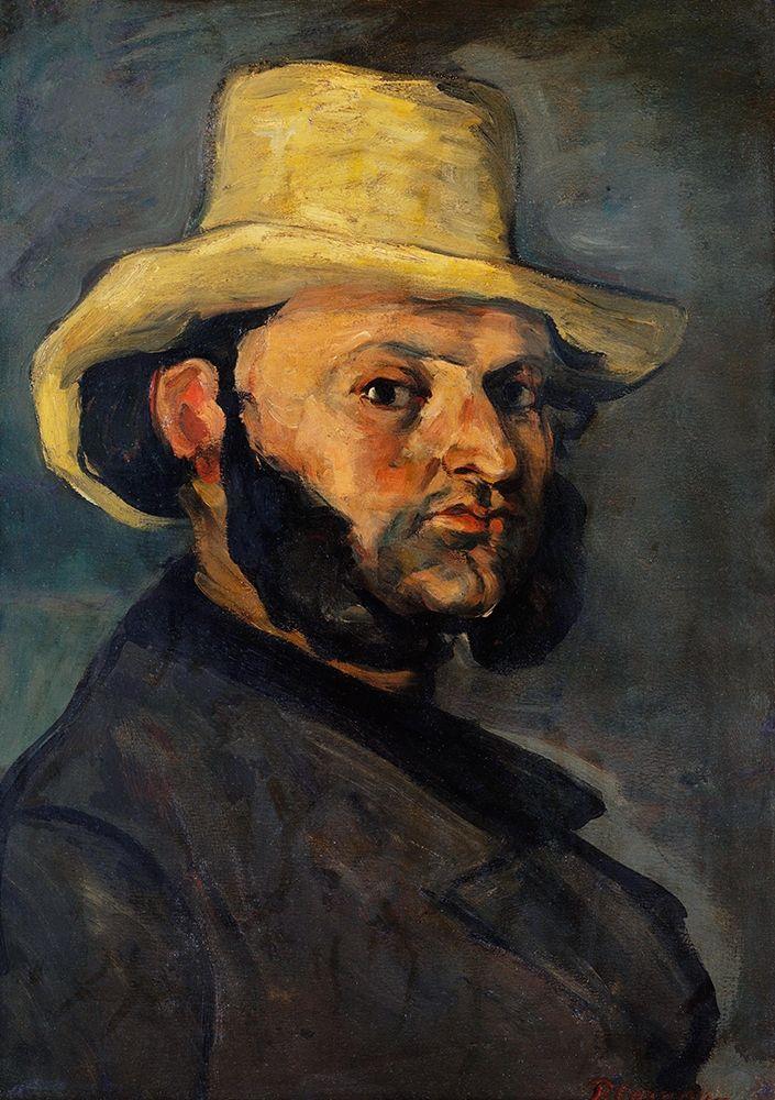 konfigurieren des Kunstdrucks in Wunschgröße Gustave Boyer in a Straw Hat von Cezanne, Paul