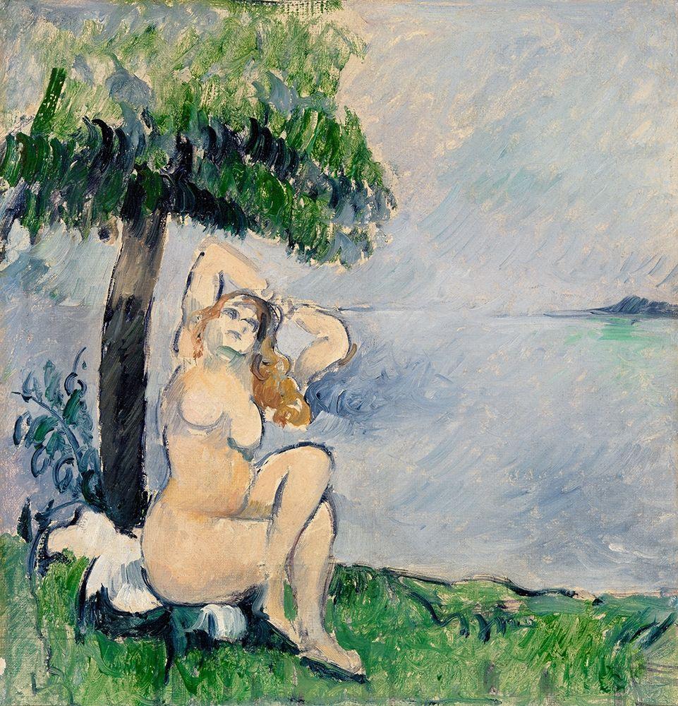 konfigurieren des Kunstdrucks in Wunschgröße Bather at the Seashore von Cezanne, Paul