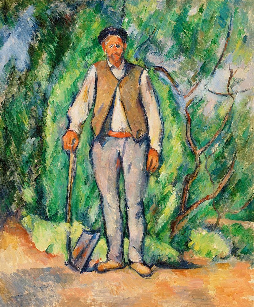 konfigurieren des Kunstdrucks in Wunschgröße Gardener von Cezanne, Paul