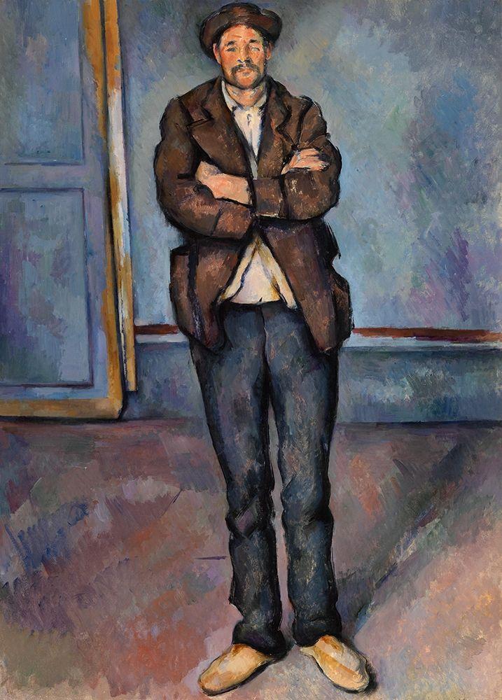 konfigurieren des Kunstdrucks in Wunschgröße Peasant Standing with Arms Crossed von Cezanne, Paul