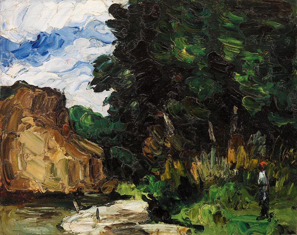 konfigurieren des Kunstdrucks in Wunschgröße River Bend von Cezanne, Paul